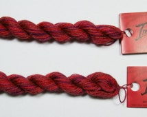 Caron Impressions Flame Embroidery Thread, Red Variegated Silk and Wool Embroidery Thread, 36 Yards/Skein Overdyed Floss