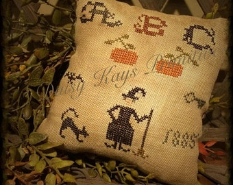 Primitive ABC Witch Pillow Tuck