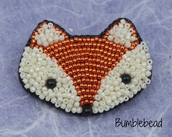Little Fox Face: A Bead Embroidery Tutorial and Kit