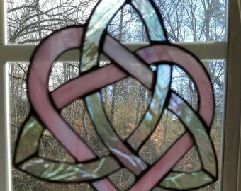 Stained glass Celtic Heart