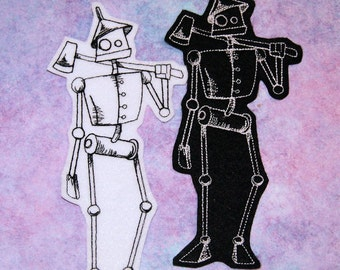 Tin Man - Wizard of Oz Iron On Embroidery Patch MTCoffinz - Choose Size