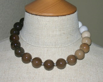 COFFEE AGATE  STATEMENT Necklace...Chunky, Bold And Beautiful