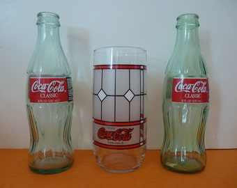 Coca-Cola Classics - Advertising/Memorabilia - two 1996 bottles and tall tumbler - vintage, offered by MtnGlen