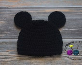 Crochet baby boy Mickey Mouse Hat, Mickey, Mickey hat, Mouse hat- Made to Order