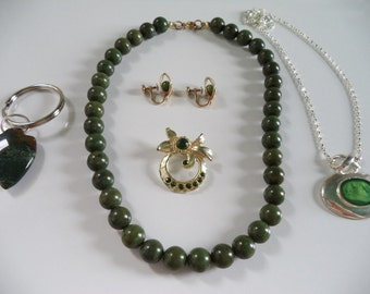 Lot of Green Jewelry