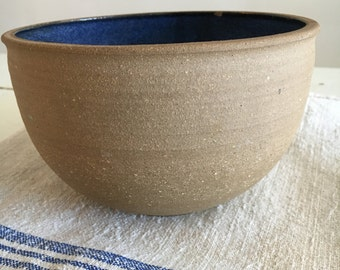 vintage hand made pottery bowl