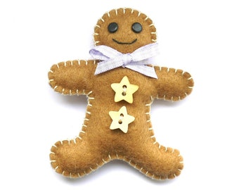 Lovely in Lilac Gingerbread Man Decoration