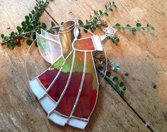 Stained glass angel ( made to order)