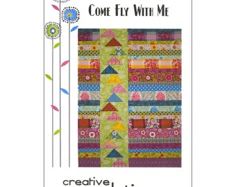 """Pattern """"Come Fly With Me"""" Quilt Pattern by Creative Sewlutions (CRS413) Paper Pattern Flying Geese"""