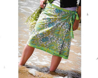 """Pattern """"The Versatile Wrap"""" Skirt by Make It Perfect (MP001) Paper Pattern Instructions"""
