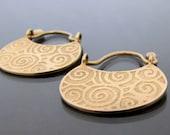 Antique earrings, earrings for women, gold earrings 14k, gold hoops, ethnic earrings, gold boho earrings, boho gypsy, gold hoop earrings