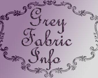 Grey Fabric Information