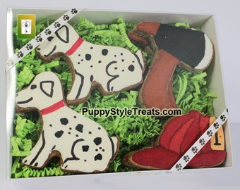 Firestation decorated dog treats