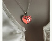 USA MADE ready 2 ship! The Goddess of Love Aphrodite Open Heart Glowing Necklace wedding Gifts for Her glow in the dark Valentine Pink/Coral