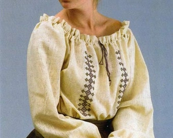 Folkwear Roumanian Blouse sizes 6-16 Peasant Blouse Sewing Pattern # 103