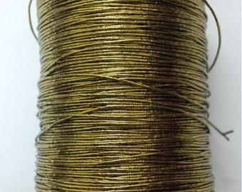ANTIQUE GOLD - 35 gm - Lurex Zari Jari Sparkle Shiny Thread Cord Dori - For Crochet Jewelry Handicraft Knitting Artwork DIY
