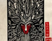 Forest Spirit Block Print