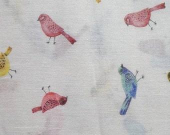 Beautiful Bird print 100% Cotton Lawn fabric