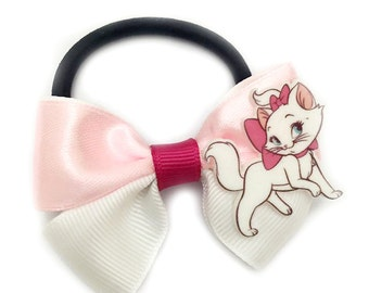 Handmade Bicolor Ribbon Ponytail Disney Aristocrat Marie