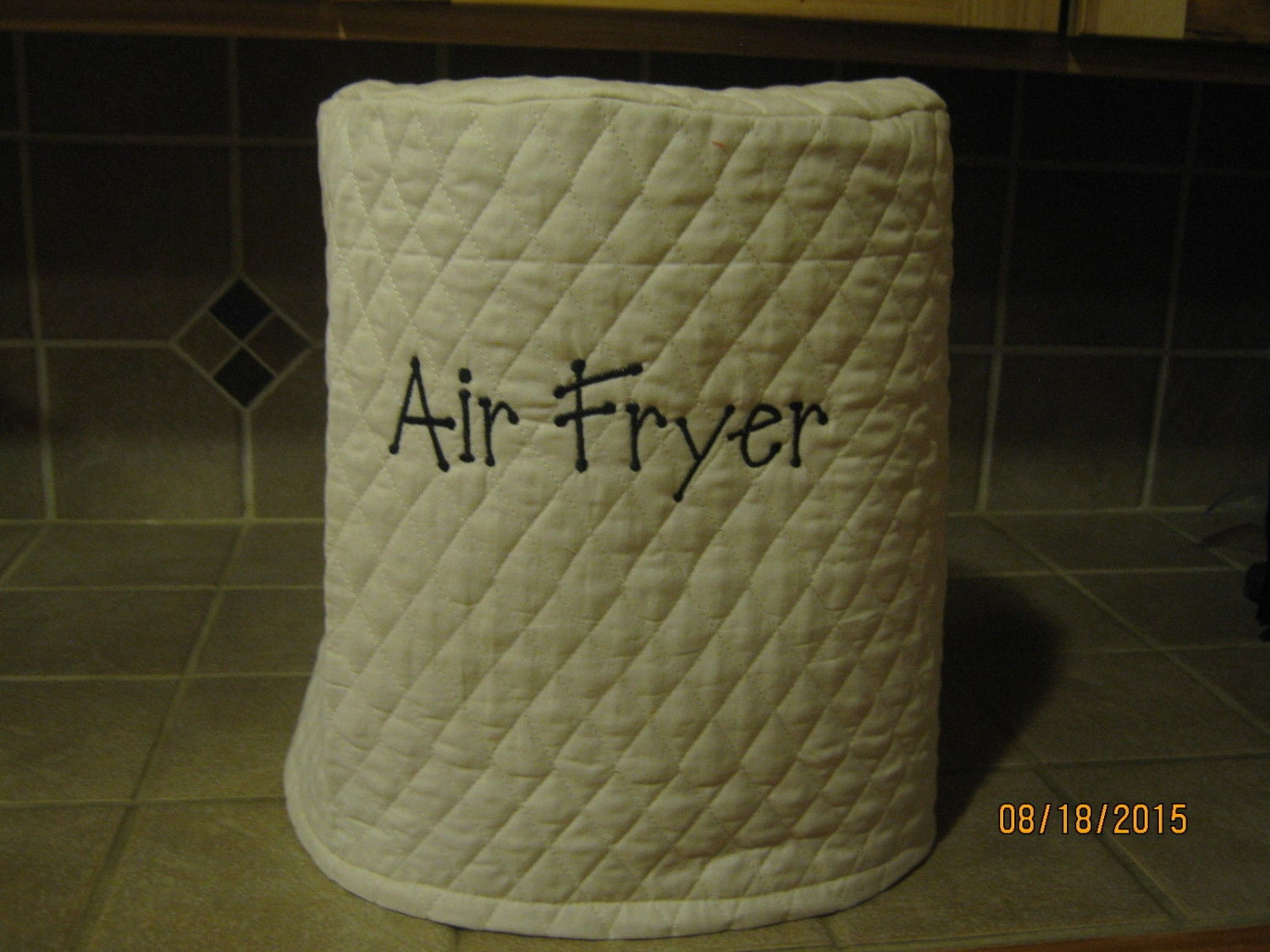 Electric Air Fryer Appliance Cover Choose Ivory Cream Red