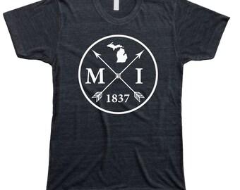 Homeland Tees Men's Michigan Arrow T-Shirt