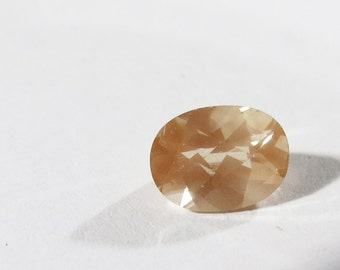 Natural RARE AAA Peach Andesine Labradorite Gemstone, 8x6mm Oval Andesene, Peach Loose Faceted Gemstone, 8x6mm Oval Andesine Labradorite Gem