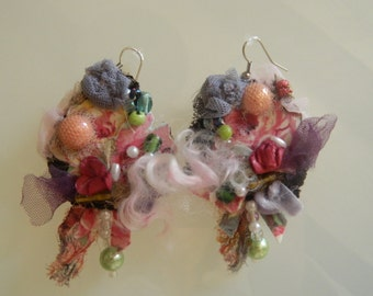 "Earrings ""roses and peonies"""