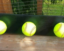 Softball, medal and/or coat rack/personalized.softball player. Girls room. Sports. Tomboy. Trophy case.