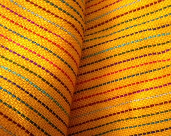 2.5 yards x .87 yard yellow Mexican fabric (cambaya)