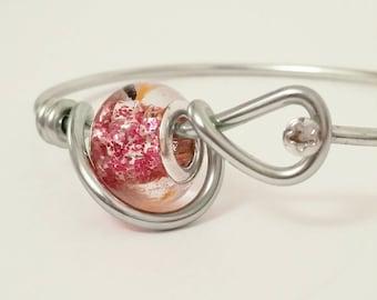 Bicycle Spoke Bracelet - Pink - Custom Size