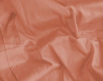 Silk Dupioni Pillow Cover with Piping or Flange - Dull Peach - Custom made  - Fabric Code - SLDP12