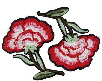 Iron On Embroidered Flowers Patches Appliques, Iron On Flowers Patches