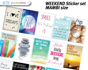 MAMBI Planner stickers Printable Stickers, weekend planner stickers, quotes stickers, inspirational, weekend, Happy Planner -  448