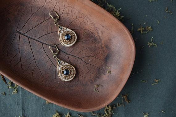 ethnic white Swarovski earrings, ethnic jewelry, indian earrings, indian jewelry, hippie earrings Swarovski