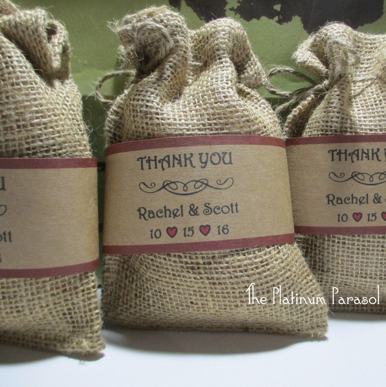 Burlap Wedding Favor Bags Diy : Wedding Favor Burlap Bag DIY Kits: by ThePlatinumParasol on Etsy