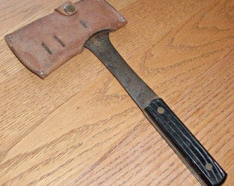 Vintage Flat Steel Camping Axe