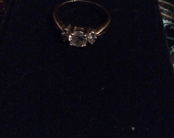 Gold tone ring 6