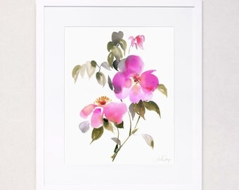 Botanical Floral Study No. 2 (Watercolor Art Print)