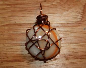 Orange Swirl Pendant/Necklace