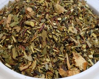 Herbal Tea: Wintergreen Rooibos Ginger Root, Orange Tisane (No Caffeine)
