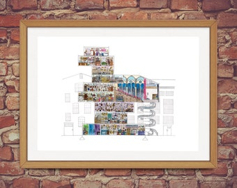 Ethnomusicologist's House/Shop - Narrative Architectural Illustration