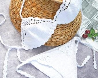 Sexy crochet bikinis, crochet bikini set, Crochet bikini top, Crochet bikini bottom, Brazilian bikini, crochet bathing suit by TTAcc
