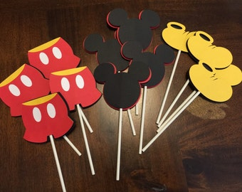 Mickey Mouse Birthday, Mickey Mouse Cupcake Toppers, Mickey Mouse Party, Mickey Mouse Birthday, Mickey Mouse Birthday Cupcake