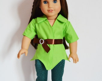 "Handmade Doll Clothes Peter Pan Costume fits 18"" American Girl Dolls"