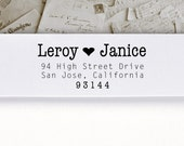 Self-Inking Address Stamp or Wood Address Stamp, Return Address Stamp, Envelope Stamp, Custom Stamp - Leroy