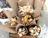 100 KRAFT Paper Cones, petal cones, food cones, custom cones, wedding toss, tossing, eco friendly