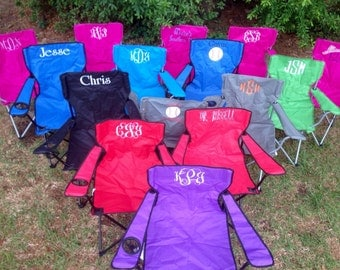 Monogrammed Folding Chair, Beach Chair, Lawn Chair, Bag Chair, Stadium Chair, Captain's Chair,  Camping Chair, Tailgating Chair, Yard chair