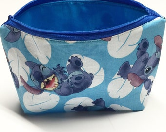 Stitch pouch, makeup bag, toiletrie bag, lilo and stitch