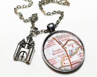 Walt Disney World map, Magic Kingdom, Walt Disney World jewelry, Disney World, Disney, Disney jewelry, Disney map, disney Orlando