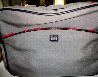 Vintage American Tourister Bag Messenger Canvas Mens Travel Lap Top Shoulder Carry On
